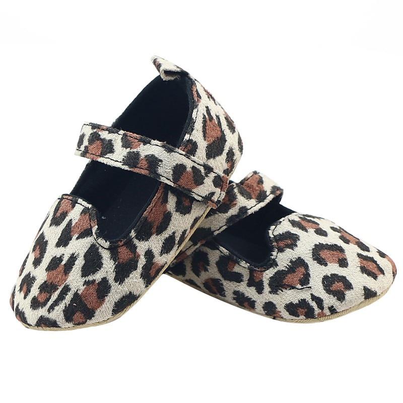 Infant Toddler Soft soled girls boys moccasins casual Shoes Prewalker First Walkers Leopard Print Cotton Shoes 0-12M