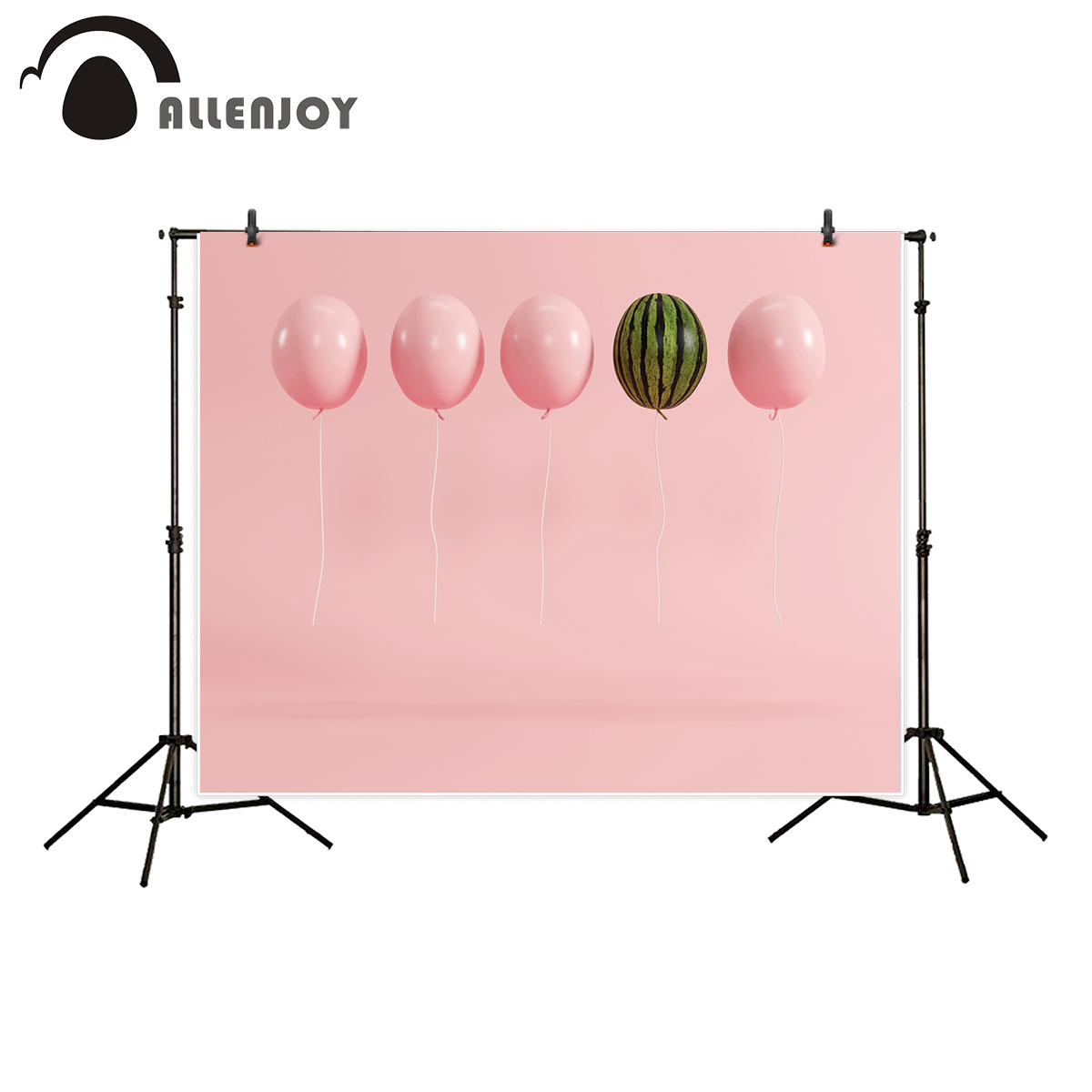 Allenjoy backdrop for photographic studio outstanding balloon watermelon pastel pink background newborn customize photocall