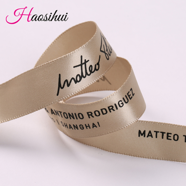Free design 3/4(19mm) wholesale ribbon Custom Logo DIY Printing satin ribbon Wedding & Personalized Logo brand 100yards/lot