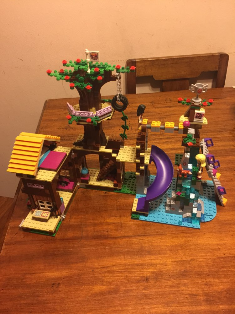 New 10497 model Building block 41122 Compatible legoes Friends bricks Adventure Camp Tree House Emma Mia Toy Children gift bela 10497 building bricks friends series adventure camp tree house 41122 emma mia figure educational toys for children gifts