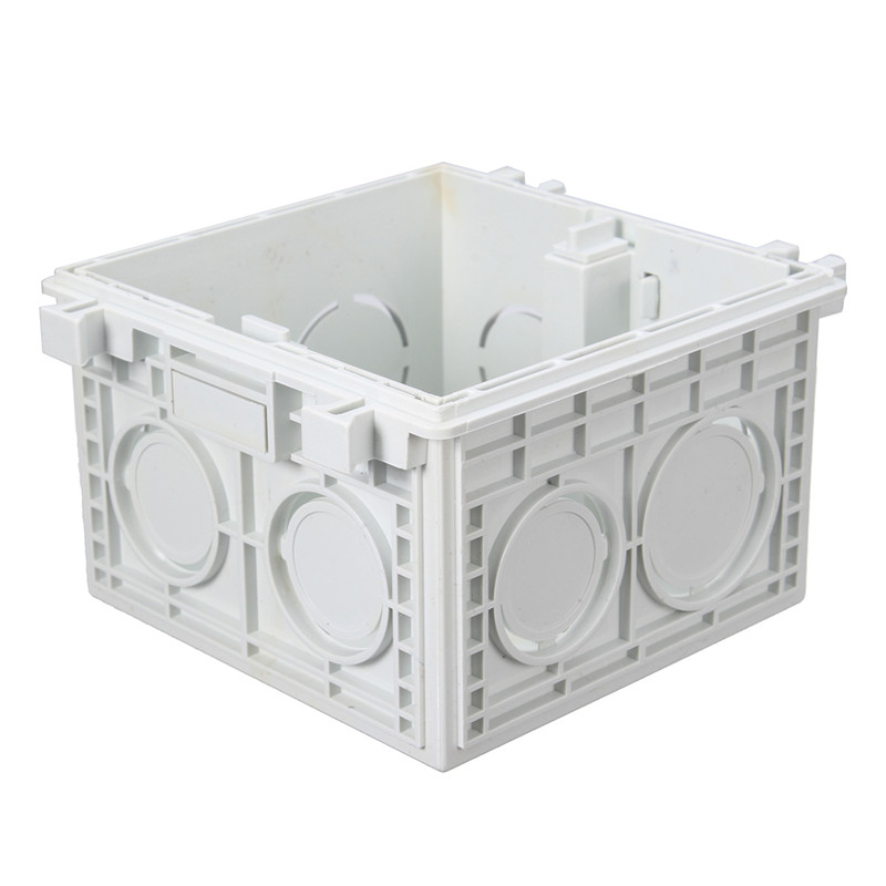 86*86MM Cassette Universal White Wall Mounting Box for Wall Switch and Socket Back Box High Quality uxcell 10pcs 86mm x 86mm x 40mm white pvc single gang wiring mount back box for wall socket