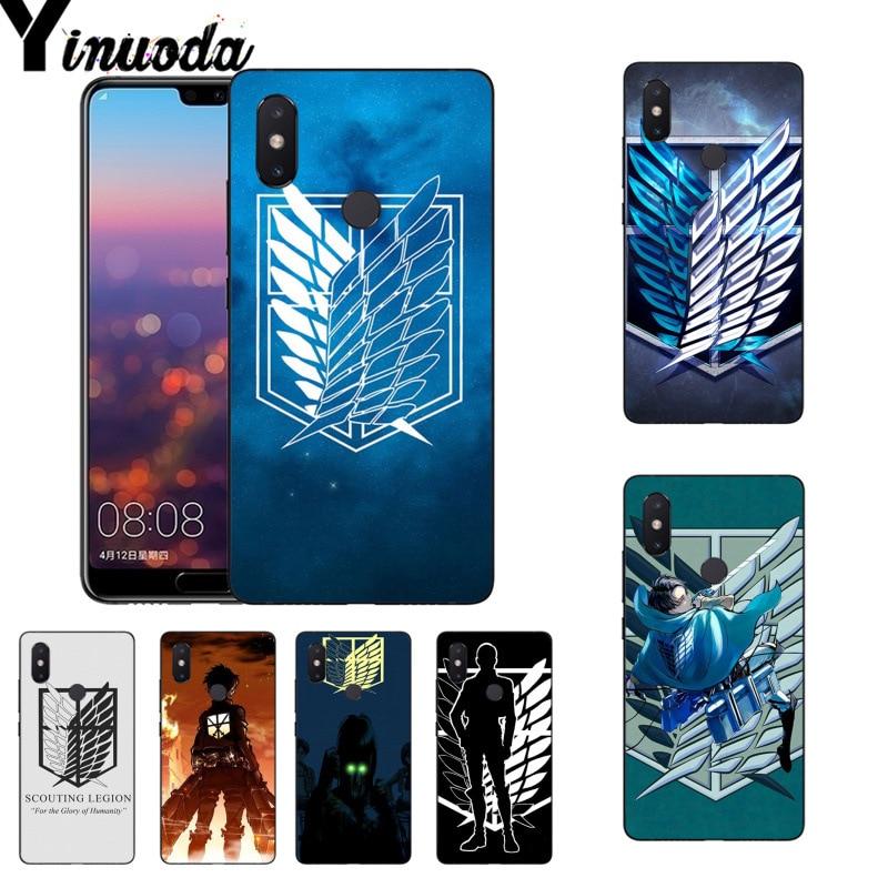 Yinuoda Anime Japanese attack on Titan Painted Design Phone Case for Xiaomi Mi 6 Mix2 Mix2S Note3 8 8SE Redmi 5 5Plus Note4 4X 5