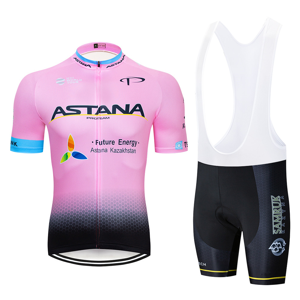 2019 Team ASTANA Cycling Jersey Summer Short Sleeves Cycling Set Bike Clothing Ropa Ciclismo Cycling Clothing Sportswear
