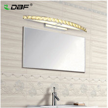 10W 15W עמיד למים LED יהירות אמבטיה קריסטל קיר אור מראה אור נירוסטה פמוטים מקורה קריסטל מראה מנורת קיר 44/54cm