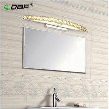 10W 15W su geçirmez LED banyo Vanity kristal duvar lambası ayna ışık paslanmaz aplikleri kapalı kristal ayna duvar lambası 44/54cm