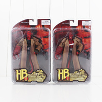 20cm 7'' Hellboy Action Figure Wounded Hellboy Includes Samaritan Handgun Cool HB Collectible Model Toy