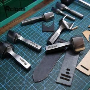 "Image 5 - Hight quality ""V""shape Belt End punch cutter,RCIDOS DIY Leather watch band corner Trimmer,15/20/25/30/35/38/40mm,1pcs price"