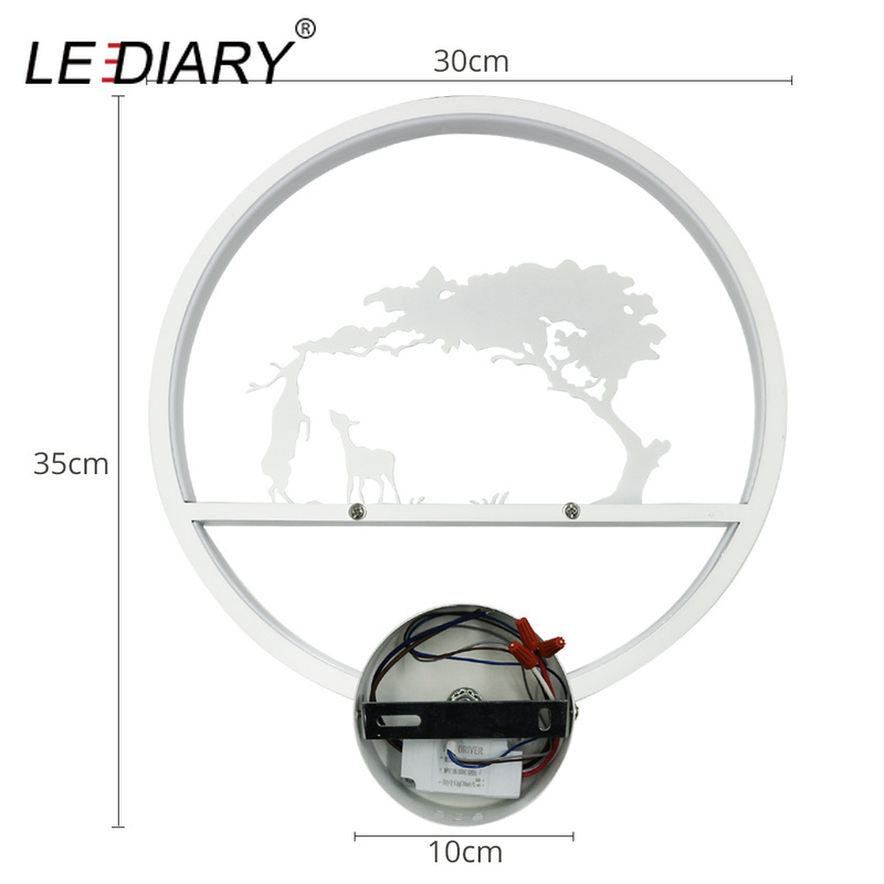 Image 3 - LEDIARY Retro LED Wall Lamp Creative Painting 110 240V Modern Black Sconce Decoration For Bathroom Living Bed Room Animal-in LED Indoor Wall Lamps from Lights & Lighting