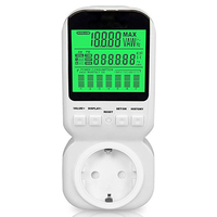 PM80 Multi function LCD Electricity Energy Meter Power Meter Energy Consumption Monitor DE Stock