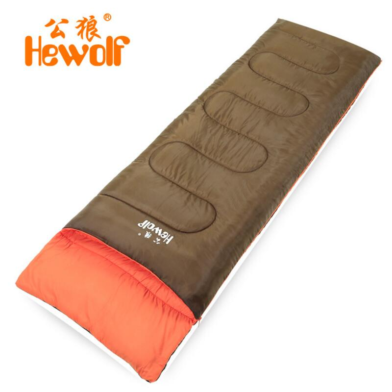 Hewolf Outdoor Sleeping Bag Adult Spring And Autumn 190*75CM Ultralight Hiking Camping Traveling Cotton Envelope Sleeping Bag hewolf sleeping bag outdoor cotton lunch break room camping adult spring autumn envelope thickening 2 persons
