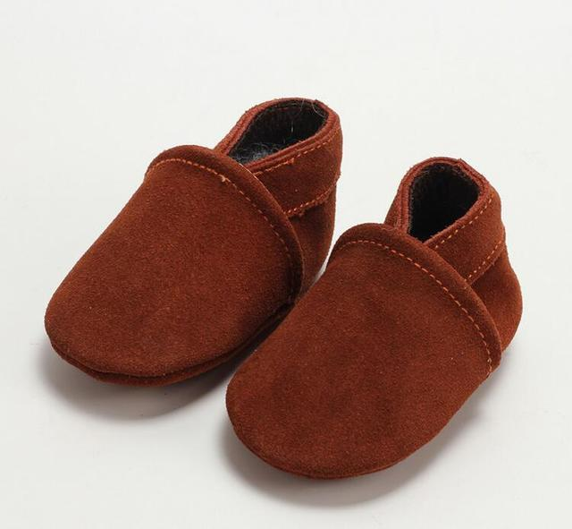 Pick Design 1 Pair Send Newborn Shoes Baby Girls Moccasins Leather Christmas Gift Baby Boys boots