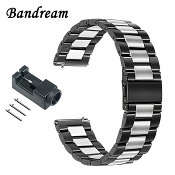 Unique Stainless Steel Watchband 20mm for Garmin Vivoactive3 Huawei Watch 2 (Sport) Ticwatch 2/E Quick Release Band Wrist Strap
