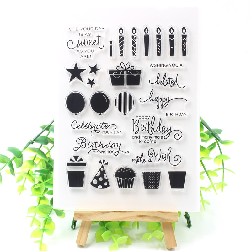 Make A Wish Transparent Clear Silicone Stamps for DIY Scrapbooking/Card Making/Kids Crafts Fun Decoration Supplies