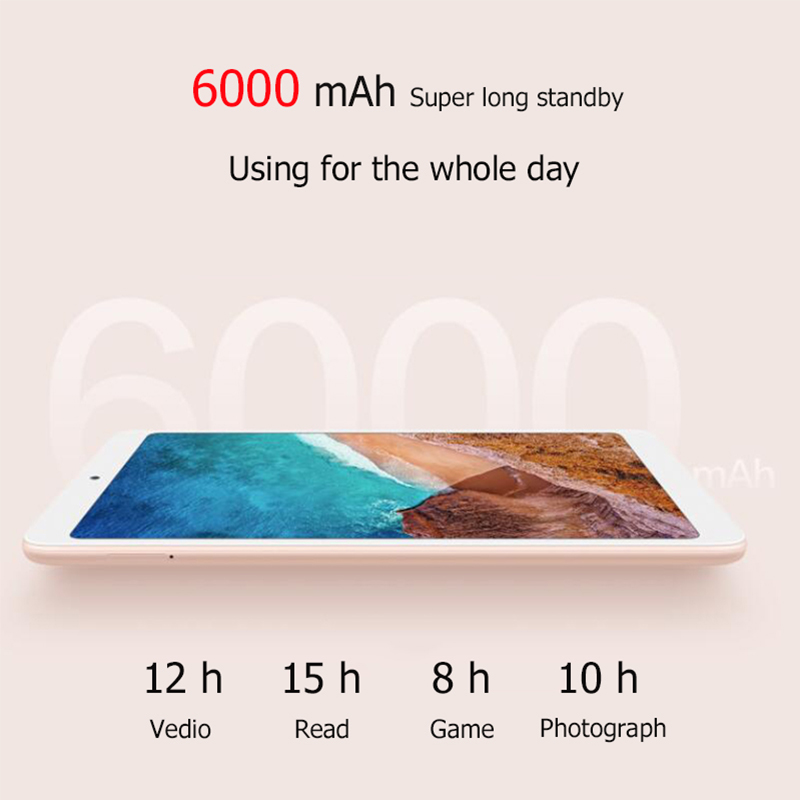 """Image 4 - Original Xiaomi Mi Pad 4 64GB 8.0"""" Display Tablets Snapdragon 660 Octa Core 1920x1200 13MP+5MP Camera 6000mAh Android Tablet PC-in Tablets from Computer & Office"""
