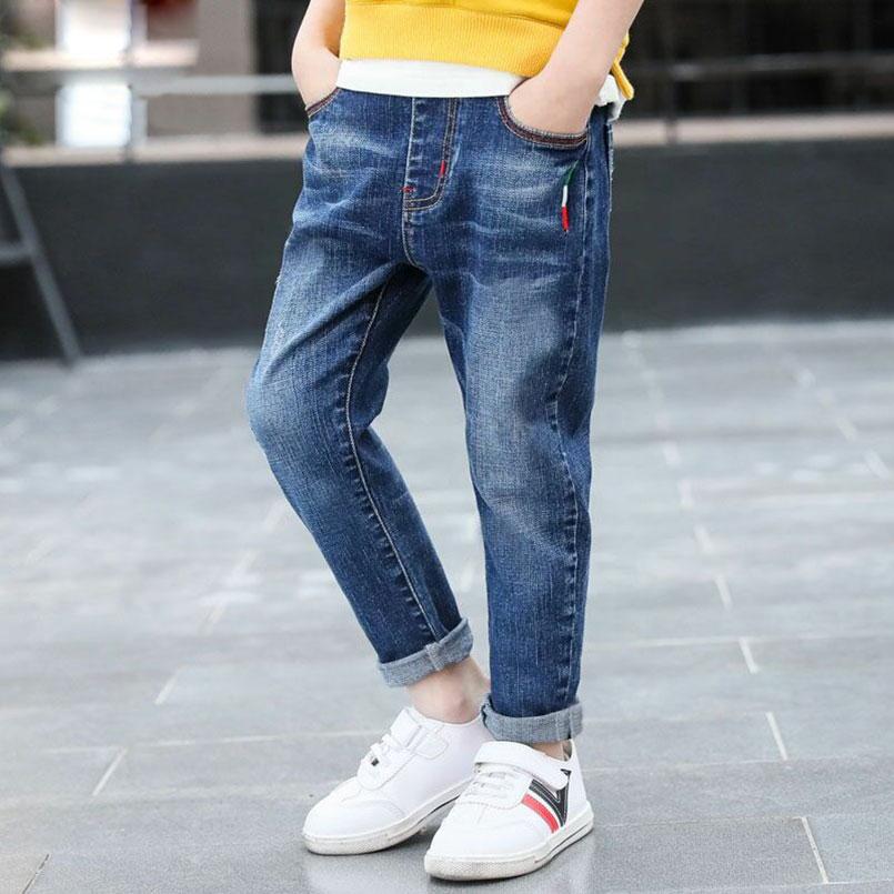 HTB1fkVLXEvrK1RjSspcq6zzSXXaz - Autumn Spring Baby Boys Jeans Pants Kids Clothes Cotton Casual Children Trousers Teenager Denim Boys Clothes 4-14Year