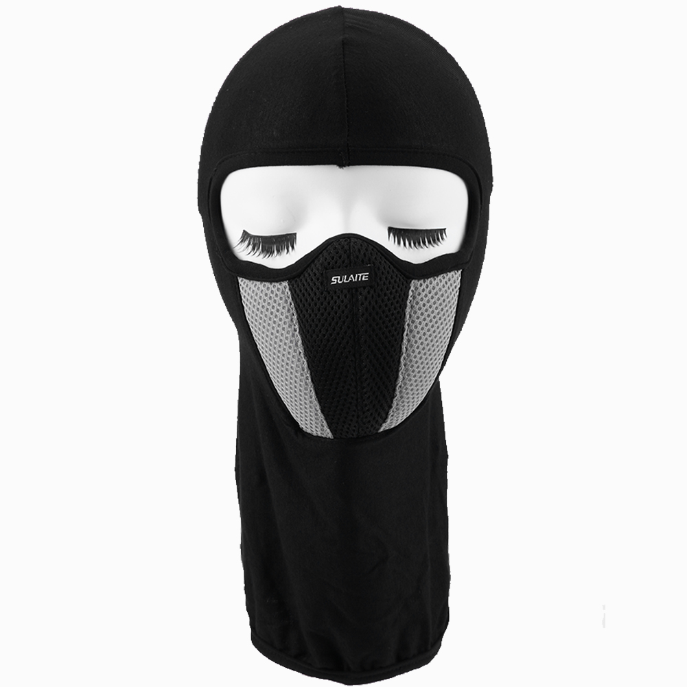 Full face mask neck warmer hood balaclava outdoor winter sports hats - Breathable Cotton Spandex Bike Bicycle Mask Neck Warmer Protector Dustproof Motor Cycling Helmet Balaclava Hat Full Face Mask