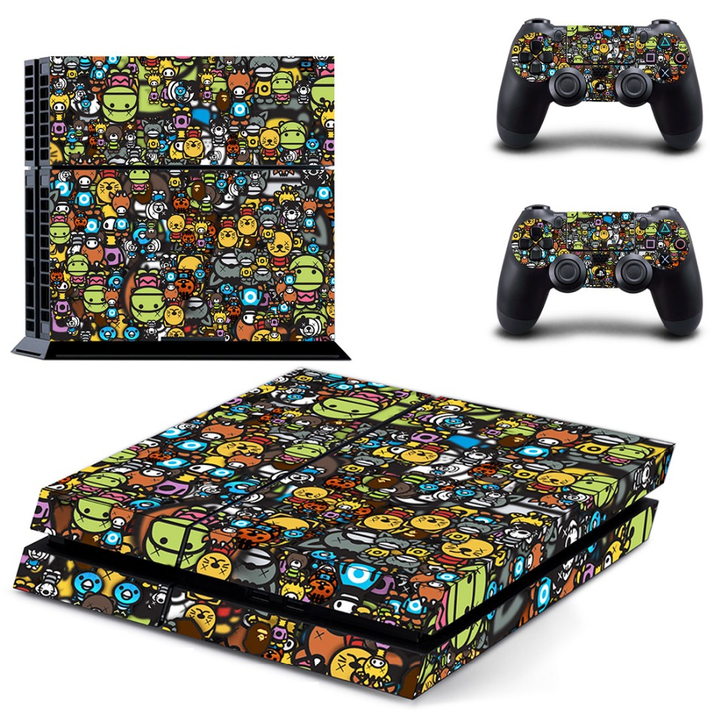 FC Game PS4 Full Skin Sticker Faceplates for Sony playstation 4 Console and Controller