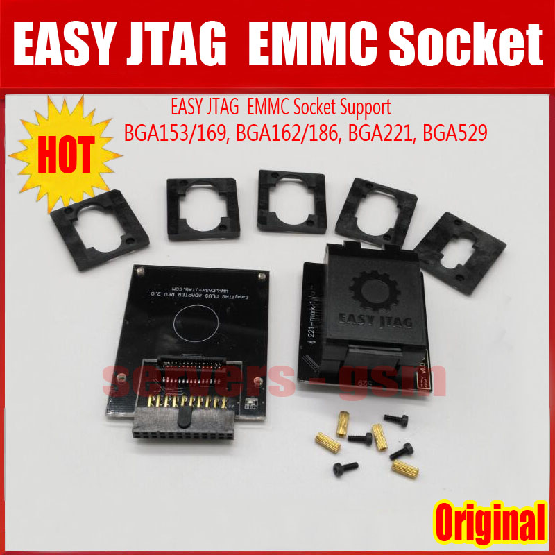 2020 NEW Original EASY JTAG PLUS BOX EMMC Socket (BGA153/169, BGA162/186, BGA221, BGA529)