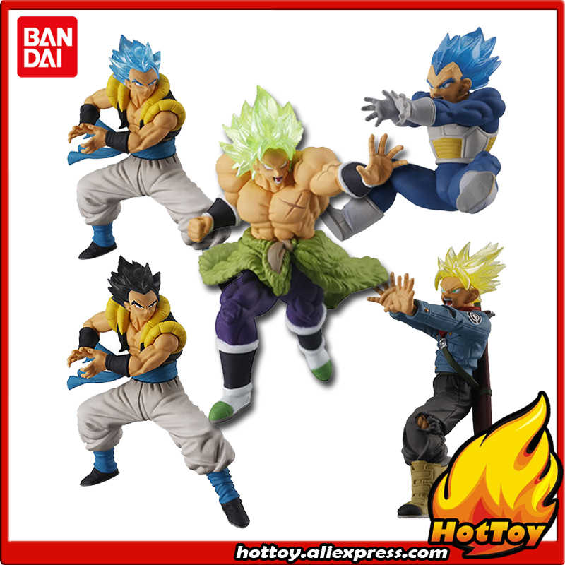 "100% Original Bandai Gashapon VS Batalha Toy PVC Figure Parte 9-Conjunto Completo 5 PCS Broly Trunks Vegeta Gogeta ""Dragon Ball SUPER"""