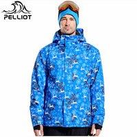 Pelliot Brand Professional Snowboard Jacket Winter Ski Jacket Men Warm Waterproof Ski Clothing Outdoor Skiing Snow