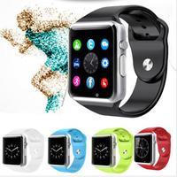 Slimy Factory Best A1 Wristwatch Bluetooth Smart Watch Sport Support Pedometer SIM TF Camera Smartwatch For