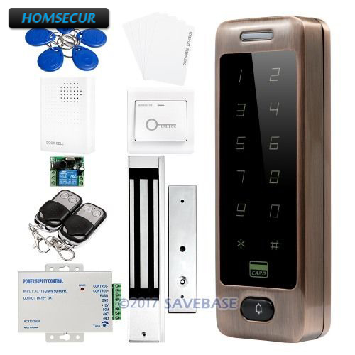 HOMSECUR Wiegand 26/34 Anti-Vandal ID Metal Access Control System + Waterproof 280KG Magnetic Lock все цены