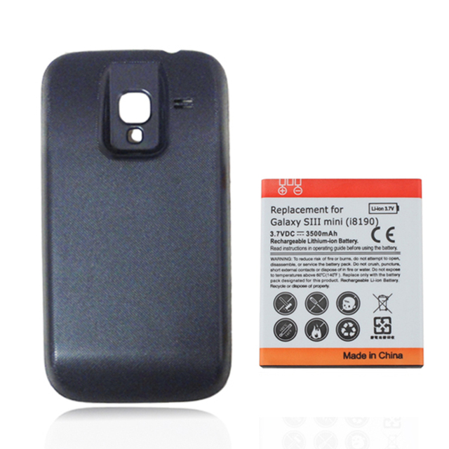New 1pc Replacement Extended 3500mAh Battery with Backup Black Back Cover For Samsung Galaxy Ace 2 GT-i8160 i8610, Free Shipping