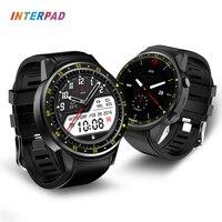 Interpad умные часы gps Двойная камера кровяное давление Smartwatch пульсометр трекер сна с компасом умные часы
