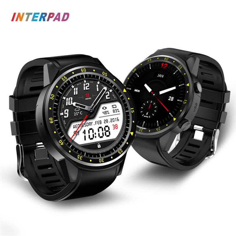 цена Interpad Smart Watch GPS Dual Camera Blood Pressure Smartwatch Heart Rate Monitor Sleep Tracker With Compass Smart-watches
