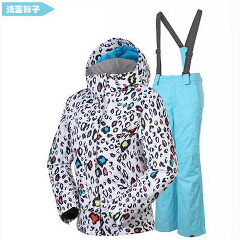 Gsou snow ski suit set children ski jacket+pants for girl and boy outdoor windrproof snowboarding jackets girl sport skiing suit