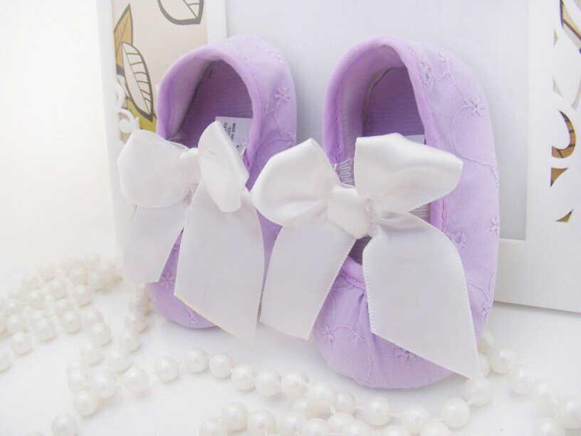 Recién Nacidos Bebé Zapatos bowknot bebé niñas Zapatos Niño primeros caminantes niños PU suela suave 0-18 meses zapatillas navidad