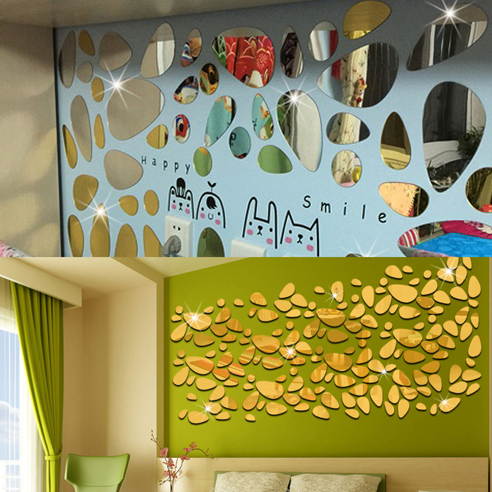 Funky Shaped Mirror Wall Decorations Festooning - The Wall Art ...