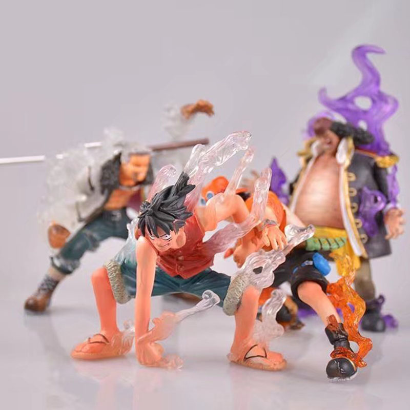 Anime One piece figure Teach/ Luffy/ Ace/ Smoker Devil fruit ability ver. PVC action figure collection model toys for kids gift