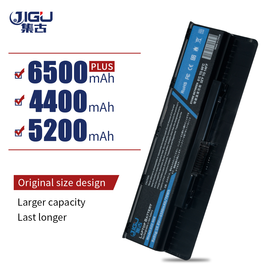 JIGU Laptop Battery For Asus N46 N56 N76 N46VJ N46VM N46VZ N56DP N56VJ N56VM N76VJ R500VD N76VZ N76VM A32-N56  6Cells