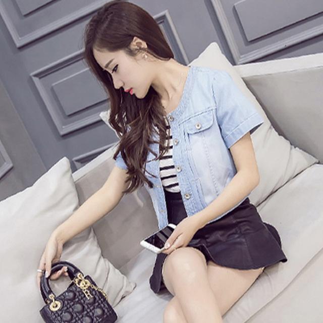 2018 New Spring Summer Short Denim Jackets Vintage Casual Coat Women Denim Jacket Women Outwear new fashion Plus size 3XL
