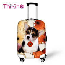 Thikin  Printing Dog Travel Luggage Cover Animal School Trunk Suitcase Protective Bag Protector
