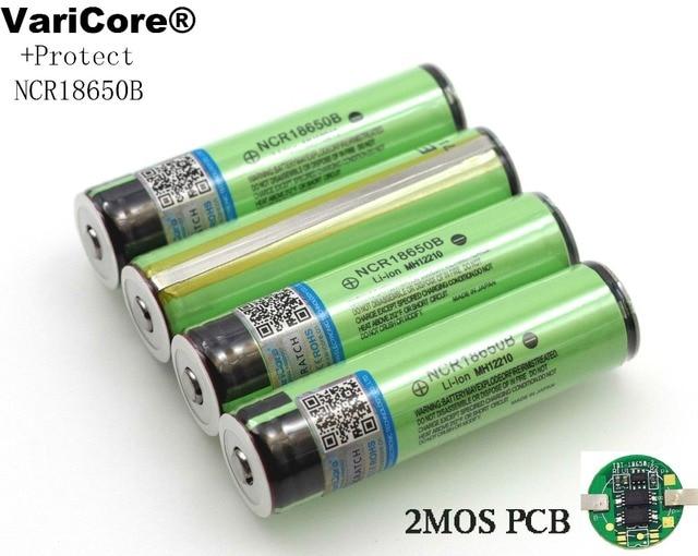 2019 защищенный Оригинал 18650 NCR18650B 3400 mAh Перезаряжаемые литий-ионная батарея с печатной платы 3,7 V для фонарик
