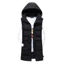 b new autumn and winter men down cotton Sleeveless vest Male Hooded Thick Warm Waistcoat Men Chaleco con capucha de los hombres