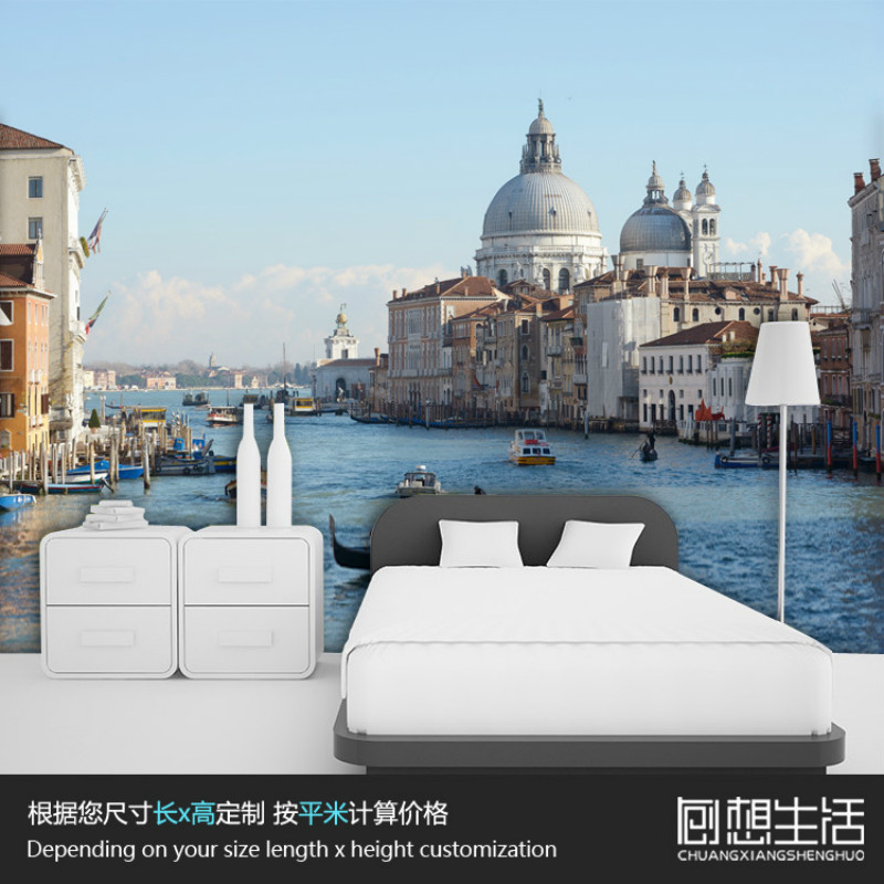 Mural Venice water landscape Dusk mural 3D wallpaper personalized modern bedroom TV wall 3D wallpapers for kids room beibehang modern luxury circle design wallpaper 3d stereoscopic mural wallpapers non woven home decor wallpapers flocking wa
