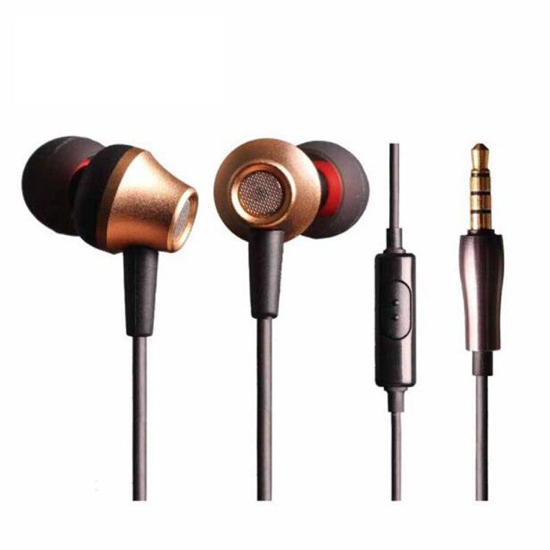 New Arrival Metal Sport Earphone 3.5mm In-Ear Earphone Heavy Bass Stereo Headset Earpod with Mic for PC Samsung Xiaomi MP3 MP4