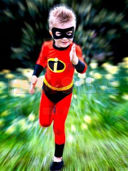 Incredibles Dash Superhero Costume  Lycra Spandex Kids Costume Zentai Cosplay Costume for Halloween Kids/Children