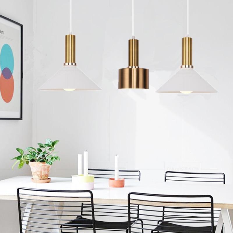 Europe LED Pendant Light Vintage Glass Aluminium Lamp Modern Hanging Sitting Dining Room Bar Coffee Shop Lighting Fixture цена