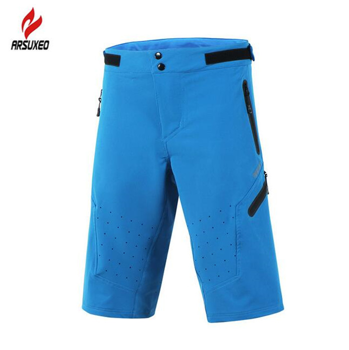 ARSUXEO MTB Mountain Bike Riding Short Pants Breathable Wicking Fitness Hiking Cycling Shorts Leisure Sportwear Short Pants women s cycling shorts cycling mountain bike cycling equipment female spring autumn breathable wicking silicone skirt