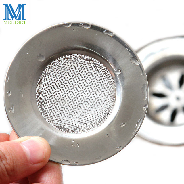 Stainless Steel Shower Drain Hole Filter Sink Strainer Round Shape Vegetable Residue Kitchen Waste Stop