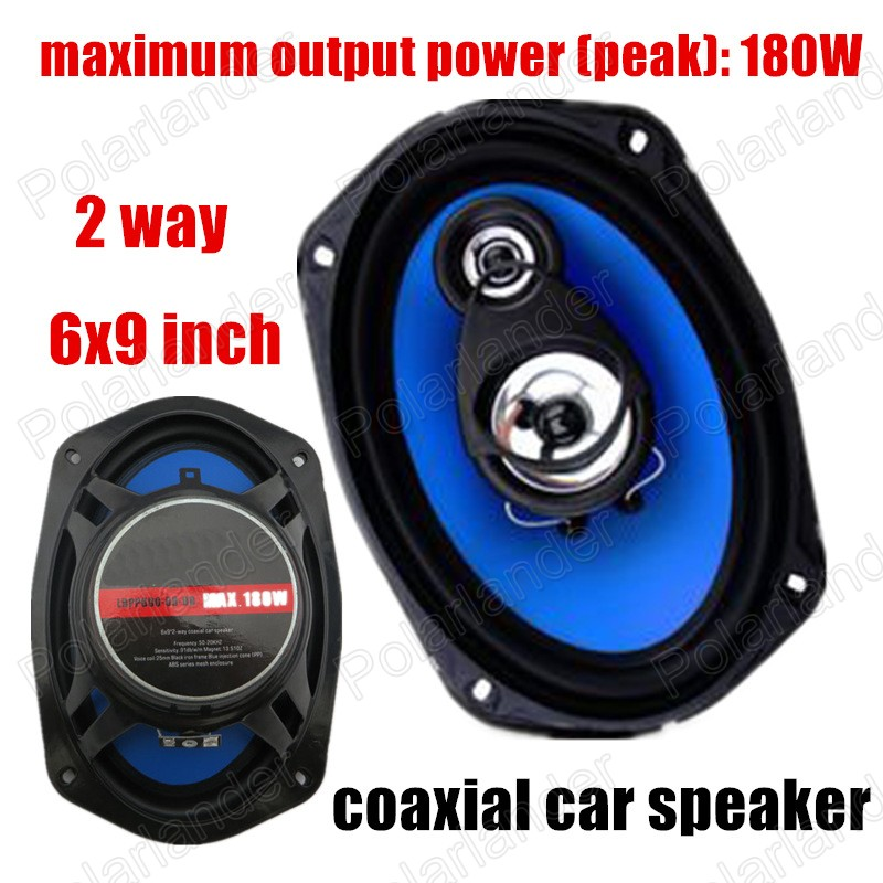 цена auto door component speakers A pair 2 way 2x180W 6X9 inch Universal Coaxial Car Speakers Car Audio stereo speaker