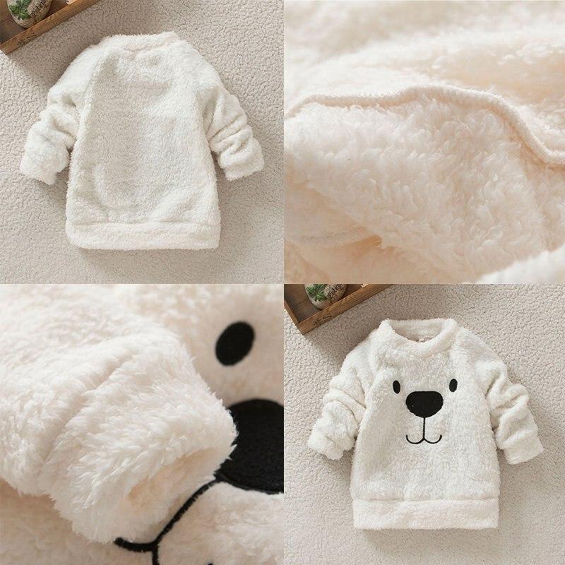 Children-Baby-Clothing-Boys-Girls-Lovely-Bear-Furry-White-Coat-Thick-Sweater-Coat-4