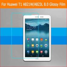 """Finest premium HD Clear Shiny display protector movie For Huawei T1 A821W A823L eight.zero"""" pill entrance display protecting movies + instruments"""