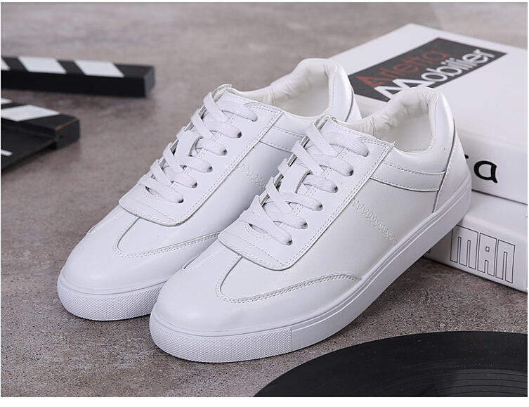 women shoes Genuine leather Lace-Up flats white shoe Soft bottom loafers Casual Shoes size 35-40 20