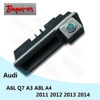 for Audi A6L Q7 A3 A4 A8L 2011 2014 Trunk Handle Car Rear View Camera HD CCD Night Vision Reverse Parking Backup Camera