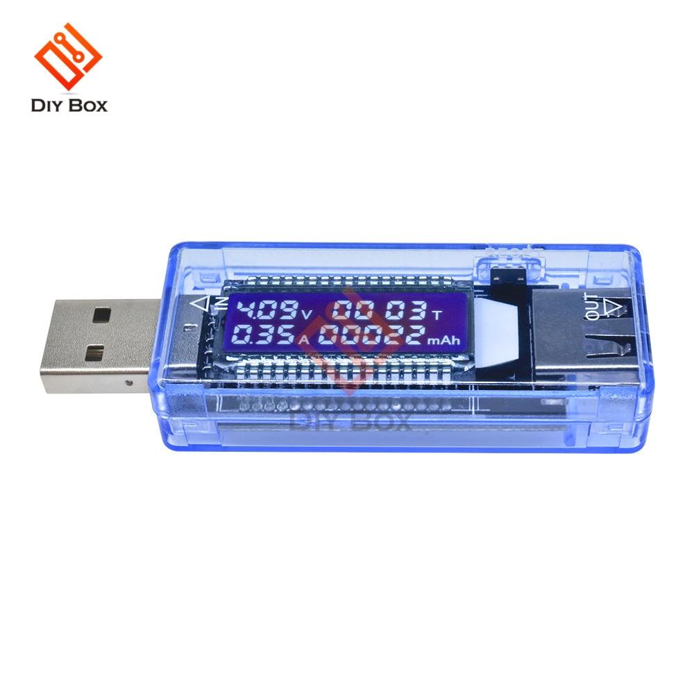 Medidor de Capacidade de Tensão Carregador de Capacidade Tester Atual Voltímetro Display Digital Medidor Banco Potência Usb